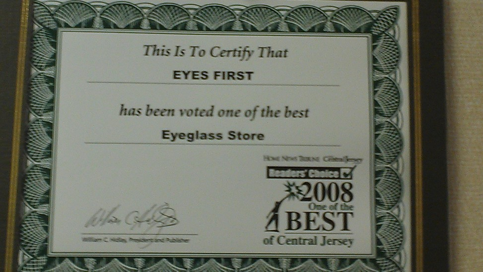 Best Eyeglass Store Award